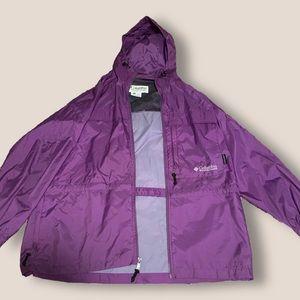 columbia windbreaker rain jacket — purple